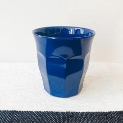 Blauwe medium melamine beker - Rice