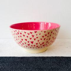 Medium melamine bakje, hartjes print - Rice