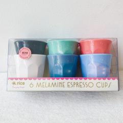 6 melamine espresso bekers - Rice