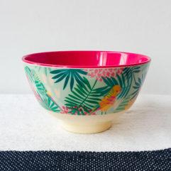 Klein melamine bakje, tropisch print - Rice