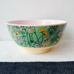 Medium melamine bakje, bloemen print - Rice